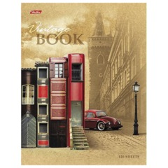 """Тетрадь на кольцах, 120 л., HATBER, ламинированная обложка, """"Книжный город"""""""