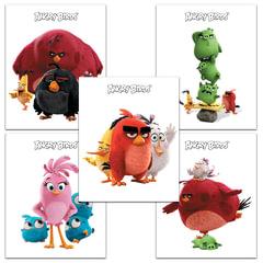 """Тетрадь """"ANGRY BIRDS"""" - (MOVIE), 18 л., клетка, обложка мелованный картон, HATBER"""