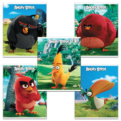 """Тетрадь """"ANGRY BIRDS"""" - (MOVIE), 48 л., клетка, обложка мелованный картон, HATBER, 48Т5В1"""