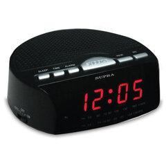 Часы-радиобудильник SUPRA SA-26FM, ЖК-дисплей, AM/FM-диапазон, черный/красный