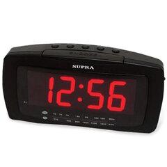 Часы-радиобудильник SUPRA SA-28FM, ЖК-дисплей, АМ/FM-диапазон, черный/красный