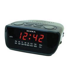 Часы-радиобудильник SUPRA SA-36FM, ЖК-дисплей, AM/FM-диапазон, черный/красный