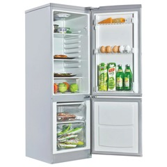 Холодильник SHIVAKI SHRF-152DS, общий объем 138 л, нижняя морозильная камера 32 л, 45x54x141 см, серый
