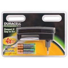 Зарядное устройство DURACELL для 4-х NiMH аккумуляторов AA или ААА + 2 аккумулятора АА 1300 мАч, время зарядки 4 часа