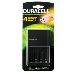 Зарядное устройство DURACELL для 4-х NiMH аккумуляторов размеров AA или AAA, время зарядки 4 часа