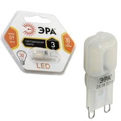 Лампа светодиодная ЭРА, 3 (30) Вт, цоколь G9, JCD, теплый белый свет, 30000 ч., LED smdJCD-3w-360-827-G9