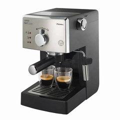Кофеварка рожковая PHILIPS HD8325/79, 1,25 л, 950 Вт, 15 бар, ручной капучинатор, серебристая
