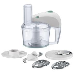 Кухонный комбайн PHILIPS HR7605/10, 350 Вт, чаша 2,1 л, 1 скорость, 5 насадок, белый