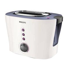 Тостер PHILIPS HD2630/40, 1000 Вт, 2 тоста, 7 режимов, подогреватель для булочек, металл, белый