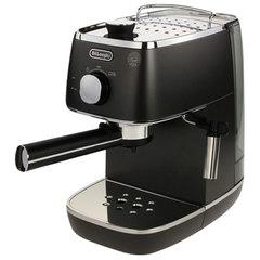 Кофеварка рожковая DELONGHI ECI 341.BK, 1100 Вт, объем 1 л, ручной капучинатор, черная