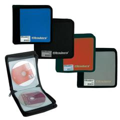 Портмоне для CD/DVD BRAUBERG (БРАУБЕРГ) на 24 диска, обложка пластиковая, ассорти