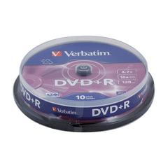 Диск DVD+R (плюс) VERBATIM, 4,7 Gb, 16x, 10 шт., Cake Box