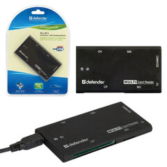 Картридер DEFENDER SUPERIOR SLIM USB 2.0, порты SD/MMC, TF, M2, CF, XD, MS