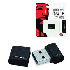 Флэш-диск 16 GB, KINGSTON Data Traveler Micro, USB 2.0, черный