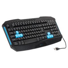 Клавиатура игровая проводная SONNEN KB-G10, USB, 10 дополнительных кнопок, LED, черная