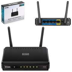 Маршрутизатор D-LINK DIR-651, 1 WAN, 4 LAN, 10/100/1000 Мбит/с, WI-FI 802.11n, 300 Мбит/с