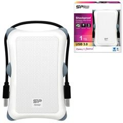 Диск жесткий внешний SILICON POWER ARMOR A30, 1TB, USB 3.0, ударостойкий, белый