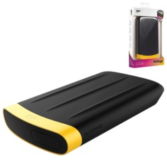 Диск жесткий внешний SILICON POWER A65, 1 TB, USB 3.0, ударостойкий, черный/желтый