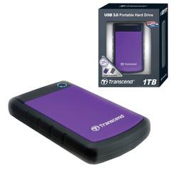 """Диск жесткий внешний TRANSCEND, 1 Tb, 2,5"""", USB 3.0, пластик, фиолетовый"""