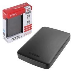 """Диск жесткий внешний TOSHIBA Canvio Basics, 1 Tb, 2,5"""", USB 3.0, черный"""