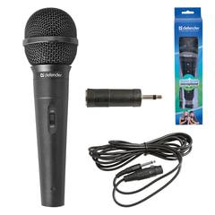 Микрофон DEFENDER MIC-130, проводной, кабель 5 м, черный