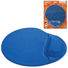 Коврик для мыши DEFENDER Easy Work, синий, полиуретан+покрытие лайкра, 260х225х5 мм, синий