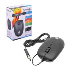 Мышь проводная DEFENDER Datum MM-010, USB, 2 кнопки + 1 колесо-кнопка, оптическая, черная