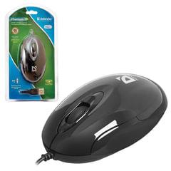 Мышь проводная DEFENDER Phantom MM-320, USB, 2 кнопки + 1 колесо-кнопка, оптическая, черная