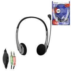 Наушники с микрофоном (гарнитура) DEFENDER Aura 114, проводная, компьютерная, 1,8 м, черная