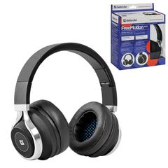 Наушники с микрофоном (гарнитура) DEFENDER FreeMotion B590, Bluetooth, беспроводная, черная