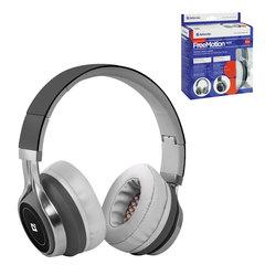 Наушники с микрофоном (гарнитура) DEFENDER FreeMotion HN-B600, беспроводные, с оголовьем, серые
