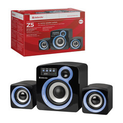 Колонки DEFENDER Z5, 2.1, 16 Вт, FM, SD/USB, пластик, черные