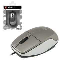 Мышь проводная DEFENDER MS-940, USB, 2 кнопки + 1 колесо-кнопка, оптическая, серая