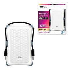 Диск жесткий внешний SILICON POWER ARMOR А30, 500 ГБ, USB 3.1, белый