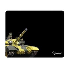 "Коврик для мыши GEMBIRD MP-GAME10 ""Танк"", ткань+резина, 250x200x3 мм, черный"
