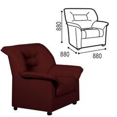 "Кресло ""V-100"", 880х880х880 мм, c подлокотниками, экокожа, коричневое"