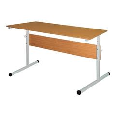 Стол-парта 2-местная, регулируемая, 1200х500х520-640 мм, рост 2-4, серый каркас, ЛДСП бук