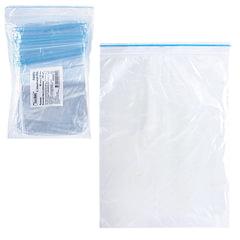 """Пакеты с замком """"зиплок"""" (гриппер), комплект 100 шт., 80х120 мм, 32 мкм"""