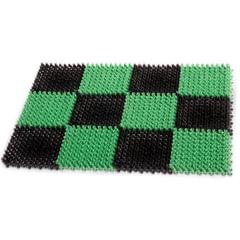 """Коврик входной пластиковый грязезащитный IDEA """"Травка"""", 550х410х18 мм, зеленый-черный"""