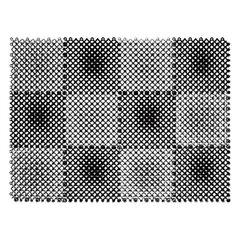 """Коврик входной пластиковый грязезащитный """"Травка"""", 560х420 мм, толщина 10 мм, серый-черный"""