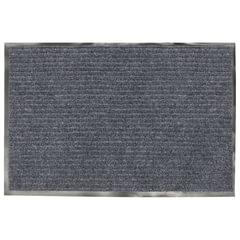 Коврик входной ворсовый влаго-грязезащитный VORTEX, 90х60 см, толщина 7 мм, серый