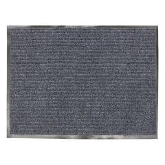Коврик входной ворсовый влаго-грязезащитный VORTEX, 90х120 см, толщина 7 мм, серый