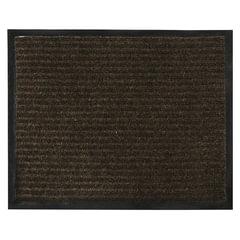 Коврик входной ворсовый влаго-грязезащитный VORTEX, 120х150 см, толщина 7 мм, коричневый