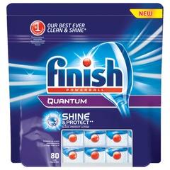 """Средство для мытья посуды в посудомоечных машинах FINISH QUANTUM (Финиш Квантум), 80 шт., """"PowerBall"""", таблетки"""