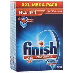 """Средство для мытья посуды в посудомоечных машинах FINISH """"All in 1"""" (Финиш), 100 шт."""