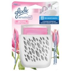 """Освежитель воздуха GLADE """"Sensations"""" для ванной комнаты, 8 г, """"Цветочное совершенство"""", основной комплект"""