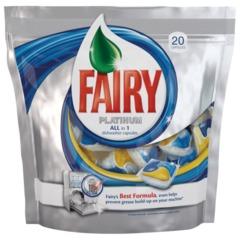 """Средство для мытья посуды в посудомоечных машинах FAIRY Platinum (Фейри Платинум), """"All in 1"""", 20 шт., капсулы"""