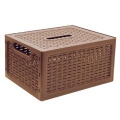 """Ящик 17 л, с крышкой, для хранения, универсальный, """"Ротанг"""", 19х37х28 см, бежевый, IDEA"""