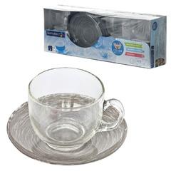 """Набор посуды чайный LUMINARC """"Stonemania Grey"""", 6 кружек по 220 мл, 6 блюдец, серый"""