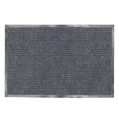 Коврик входной ворсовый влаго-грязезащитный ЛАЙМА, 120х150 см, ребристый, толщина 7 мм, серый